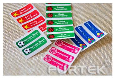 Термоклеевые этикетки с именами детей бирки на одежду для детского сада