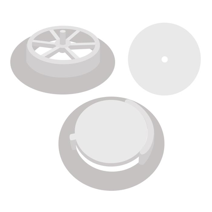 Клапан респиратора 01 (сборный) с увеличенным основанием