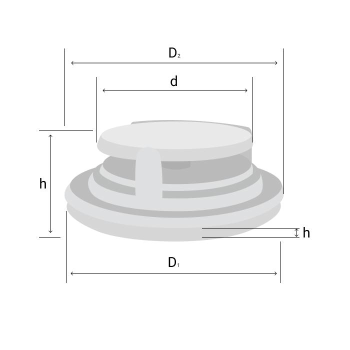 Схема клапана с буквенным обозначением размера