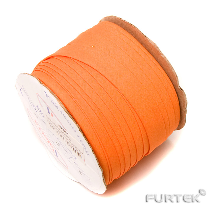 Бухта косой бейки оранжевого цвета