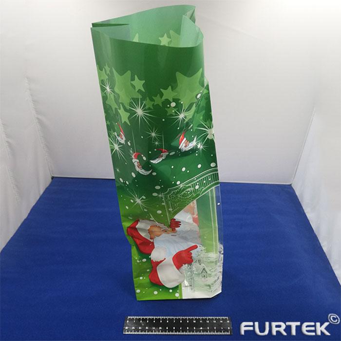 бопп пакет с печатью зеленый