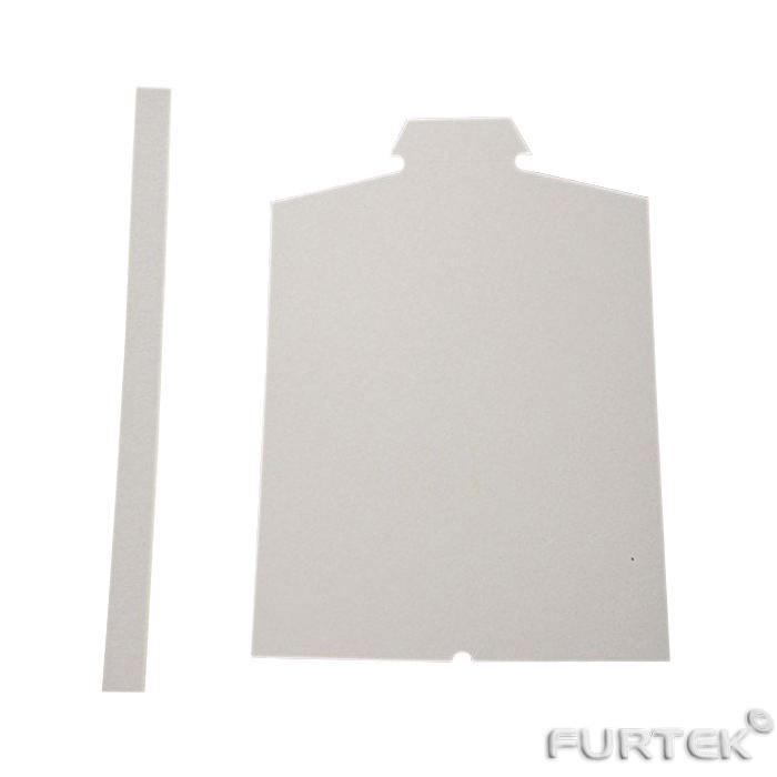 Картонная манишка для мужской сорочки и полоска картонная ПК