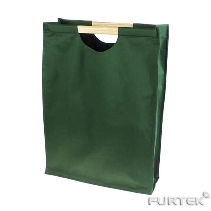 Промо сумка из спанбонда тип Стиль с деревянными ручками