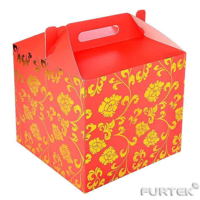 """Коробка чемодан типа """"Ласточкин хвост"""" с ручкой"""
