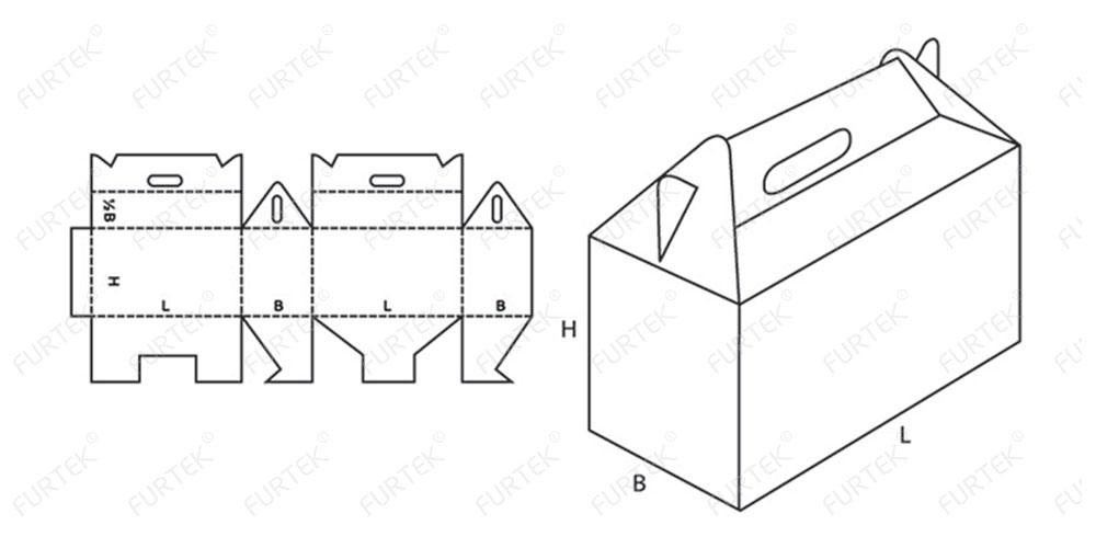 Коробка-чемодан типа Ласточкин хвост
