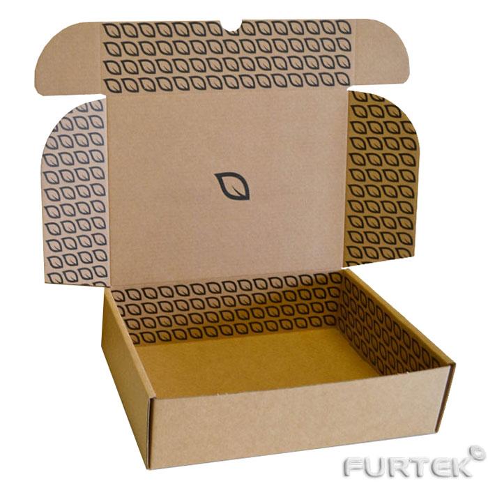 Заказ печати картонных коробок. Коробка с крышкой клапаном наверху из гофрокартона с печатью
