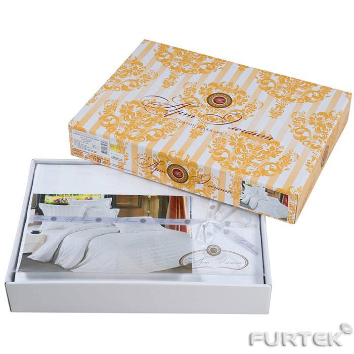 печать картонной коробки на заказ. Коробка для постельного белья со съемной крышкой