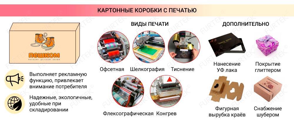 Информация о картонной коробке с печатью
