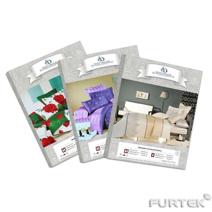 Полиграфические вкладыши в упаковку для постельного белья в ассортименте
