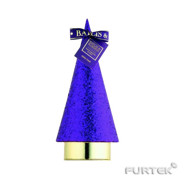 Бирка на конусе фиолетового цвета