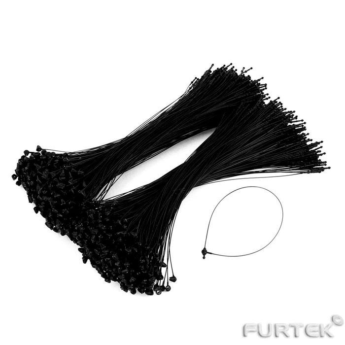 Петли черного цвета пластиковые