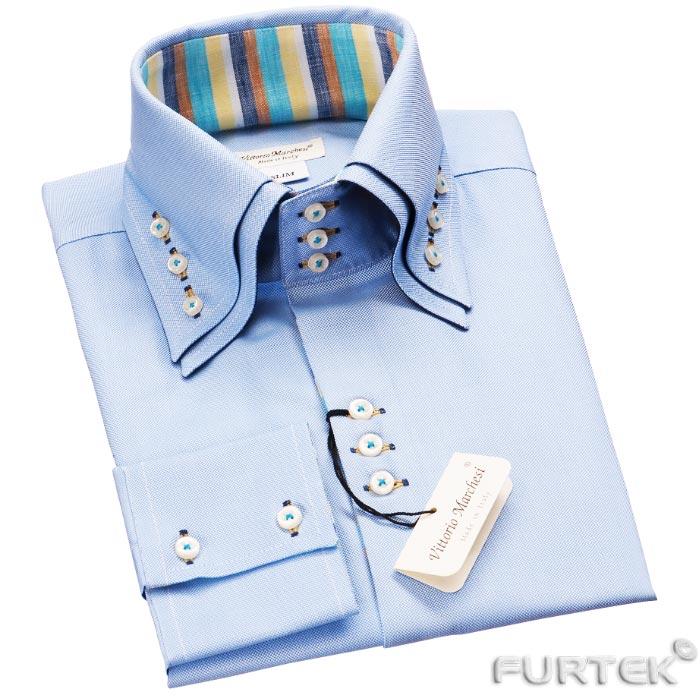 Бирка-книжка на голубой сорочке