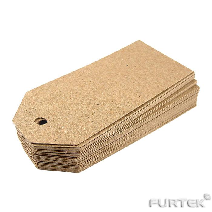 Картонные бирки со скошенными углами