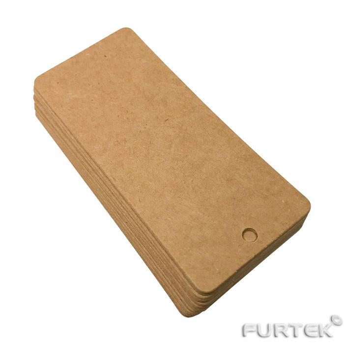 Стандартные бирки картонные прямоугольные пустые