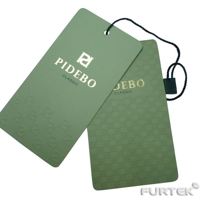 Картонные бирки для одежды Pidebo с веревочной пломбой