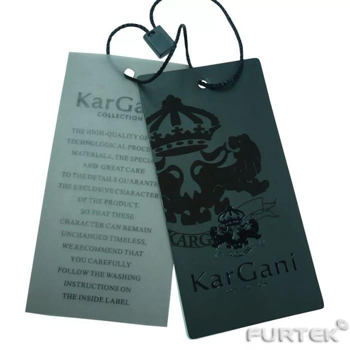 Пластмассовые бирки для одежды KarGani