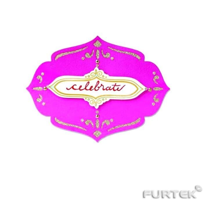 Вырубная бирка Celebrate розовая