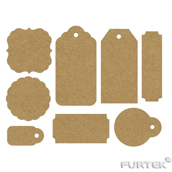Вырубные картонные бирки для одежды