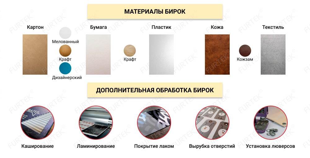 Материалы для бирок, дополнительная обработка бирок
