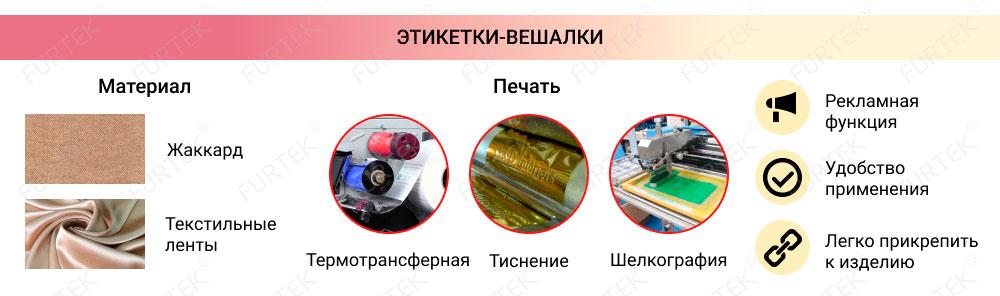 Информация об этикетках-вешалках
