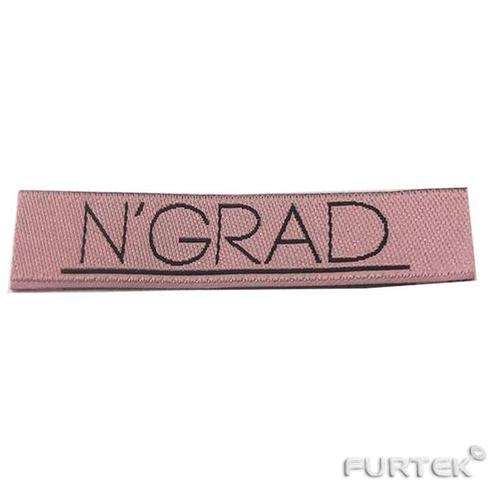 жаккардовая этикетка с логотипом N'Grad прямоугольная, пришивная.