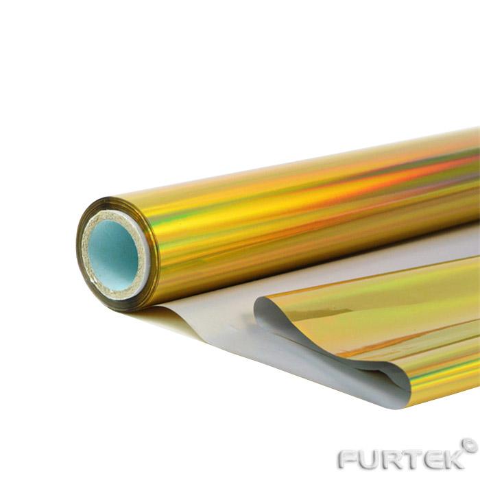 Рулон голографической золотой фольги