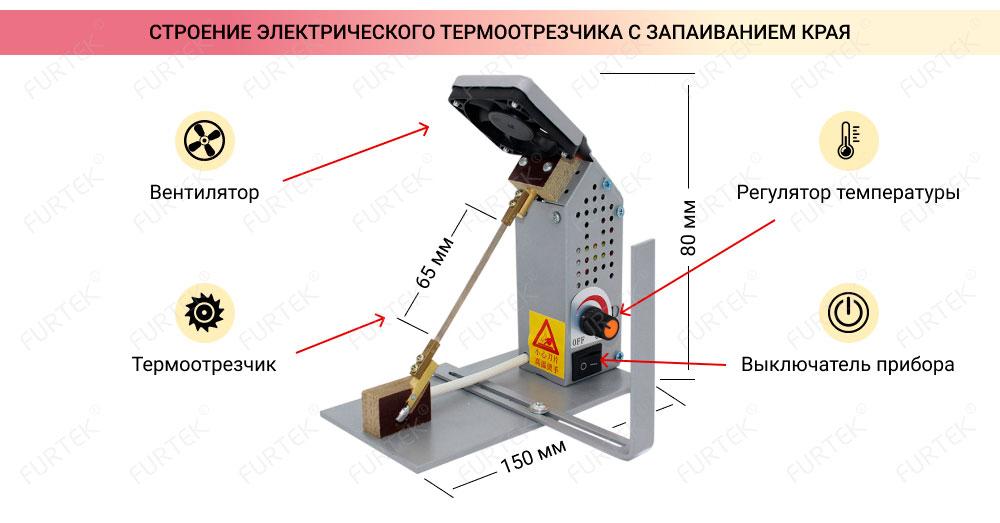 Строение терморезака с функцией запаивания