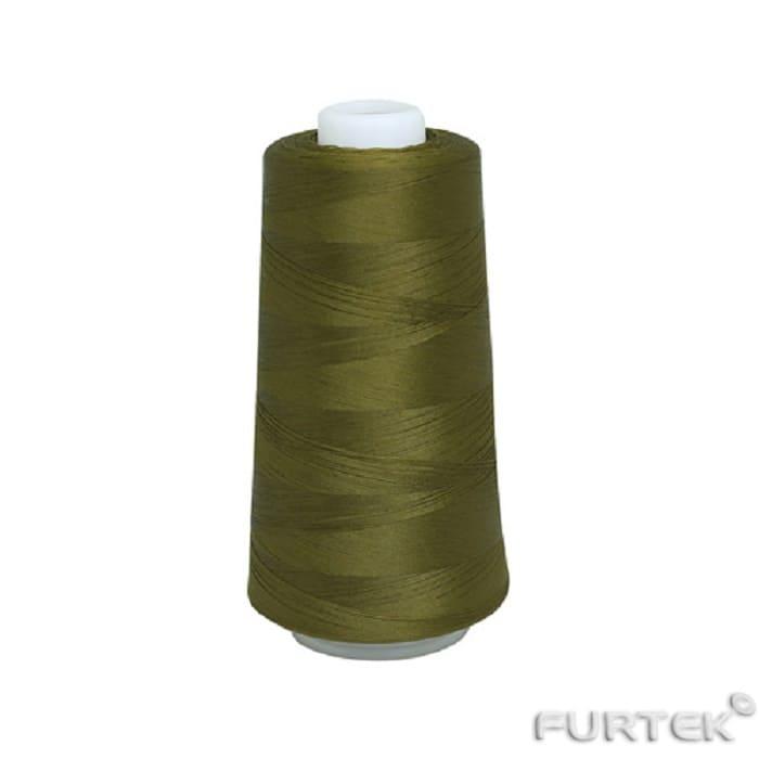 Текстильные нитки болотного цвета