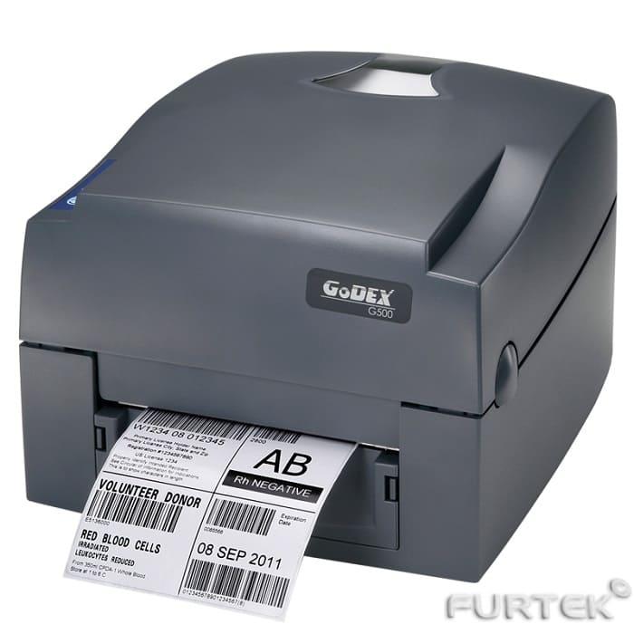 Печать этикеток на термотрансферном принтере Godex G500