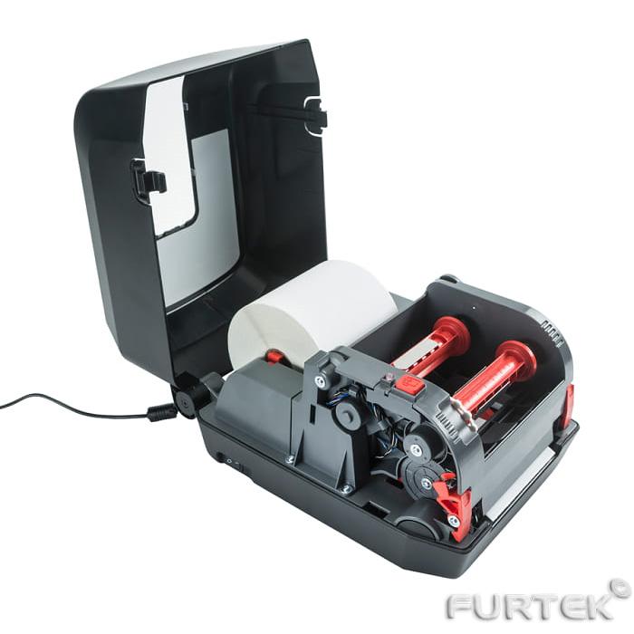 Термотрансферный принтер этикеток с встроенной термотрансферной лентой с этикетками