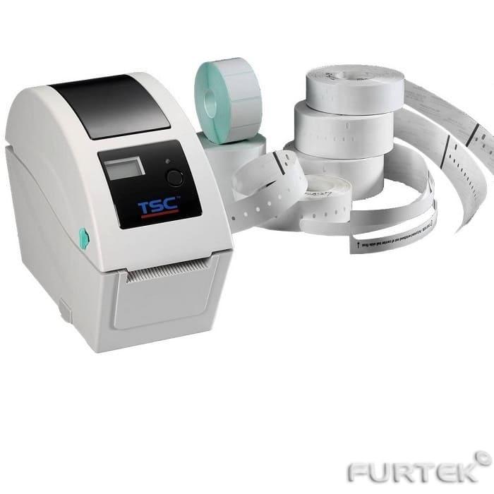 Печать на термотрансферном принтере TSC TTP-255 белого цвета