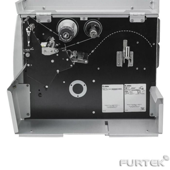 Термотрансферный принтер Zebra 110Xi4 вид сбоку внутри