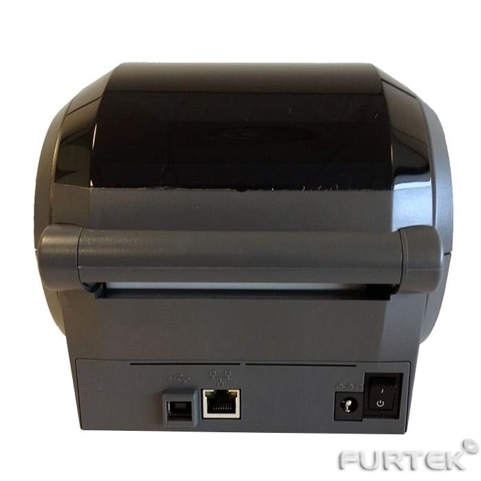 Термотрансферный принтер этикеток Zebra GK-420d сзади