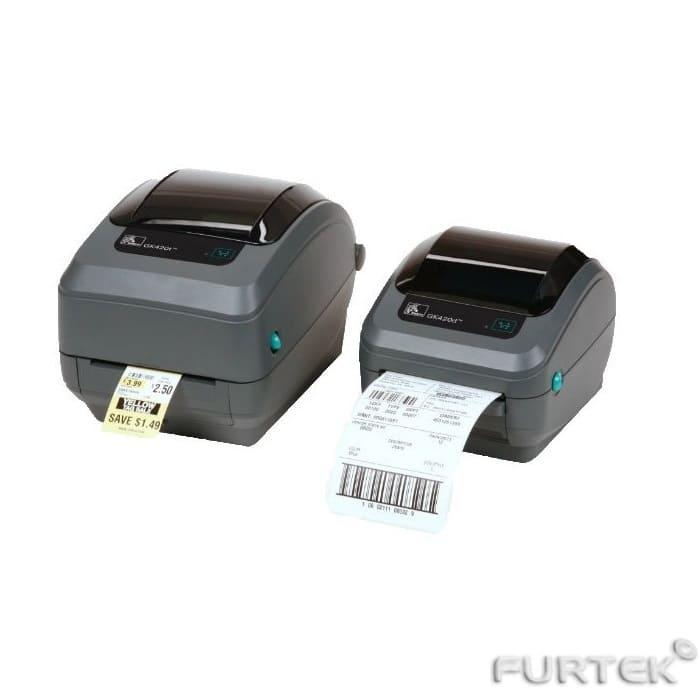 Печать на термотрансферном принтере Zebra GK-420t