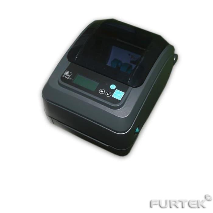 Термотрансферный принтер этикеток Zebra GX420t черный