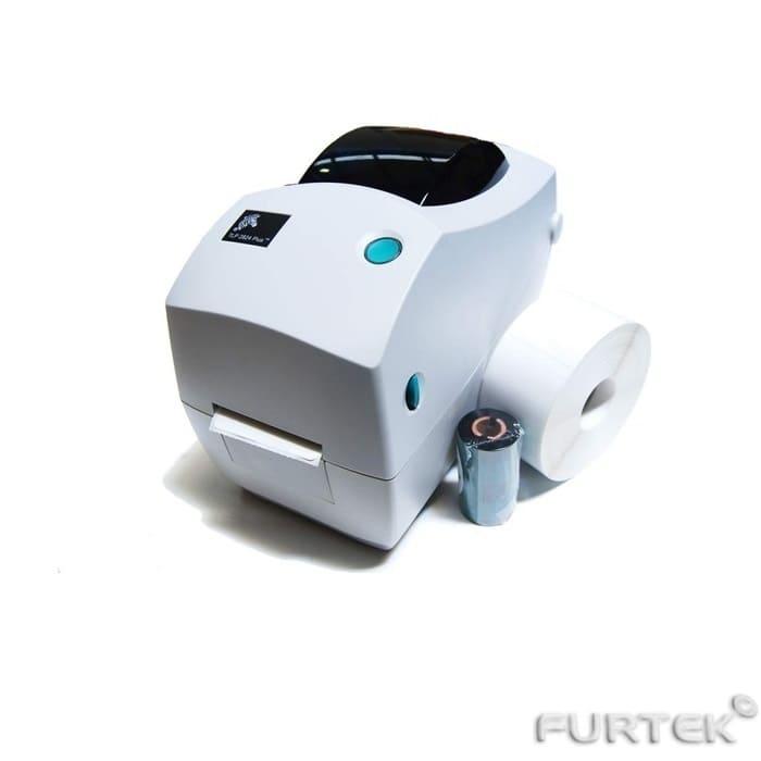 Печать на термотрансферном принтере Zebra TLP 2824 Plus