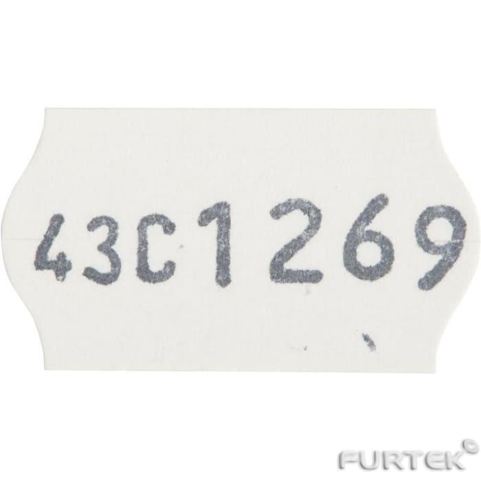 Этикет-лента для нумерации кроя со специальным клеем 22х12х1500 белая волна клей средний