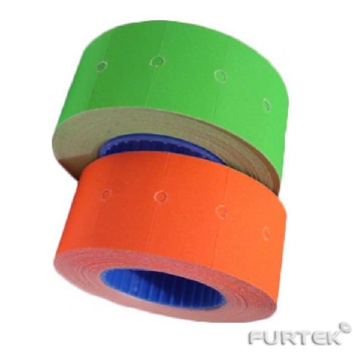Этикет-ленты для этикет-пистолетов зеленая и оранжевая прямоугольные