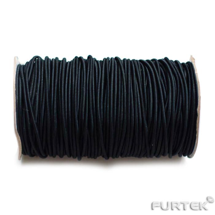 Шляпная резинка 7 мм черного цвета