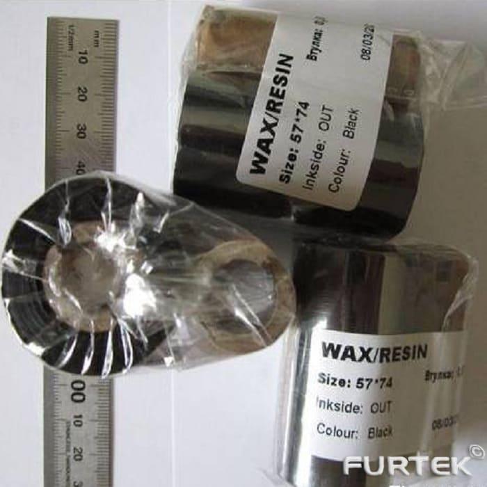 Термотрансферная лента 57 х 74 ш/в 57 мм WAX/Resin