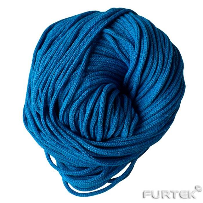 Синий шнур х/б круглый