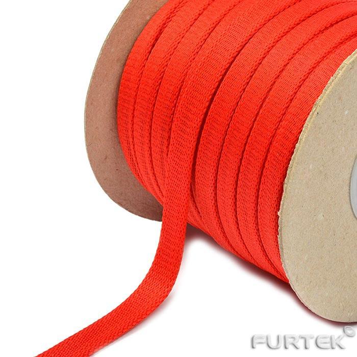 Красный шнур полиэфирный плоский