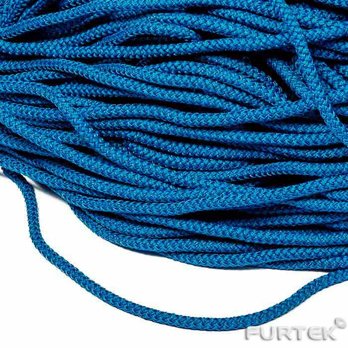 Синий шнур полиэфирный круглый