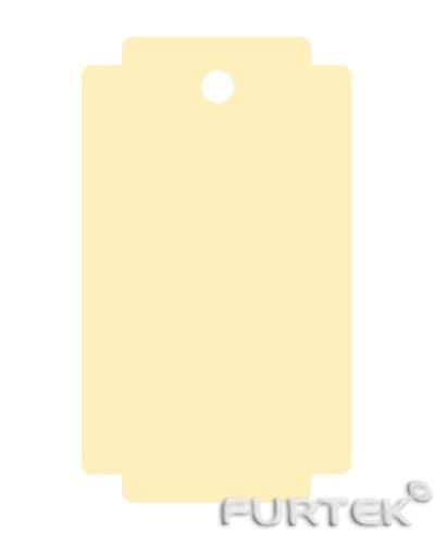 Форма бирки с прямоугольными разрезами