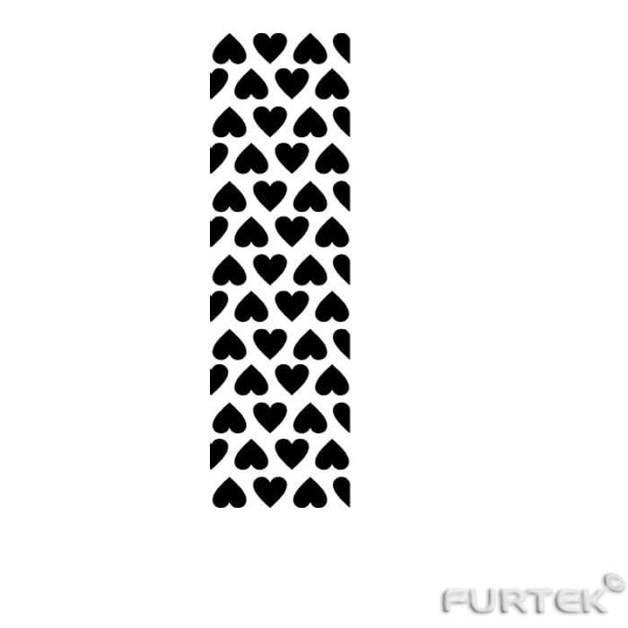 Белая сатиновая лента с черным принтом в виде сердечек в рулоне по 50 и  100 м.