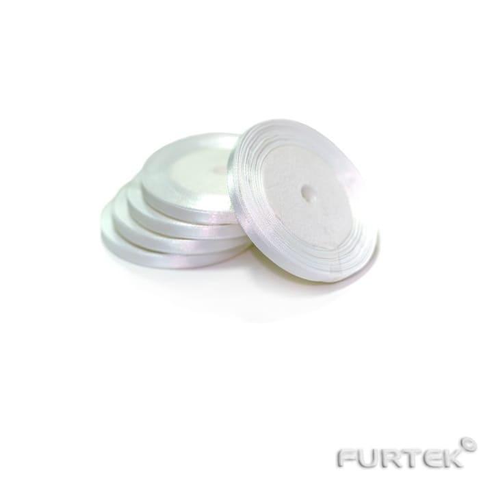 Атласная белая лента 6 мм 100 мм в рулонах