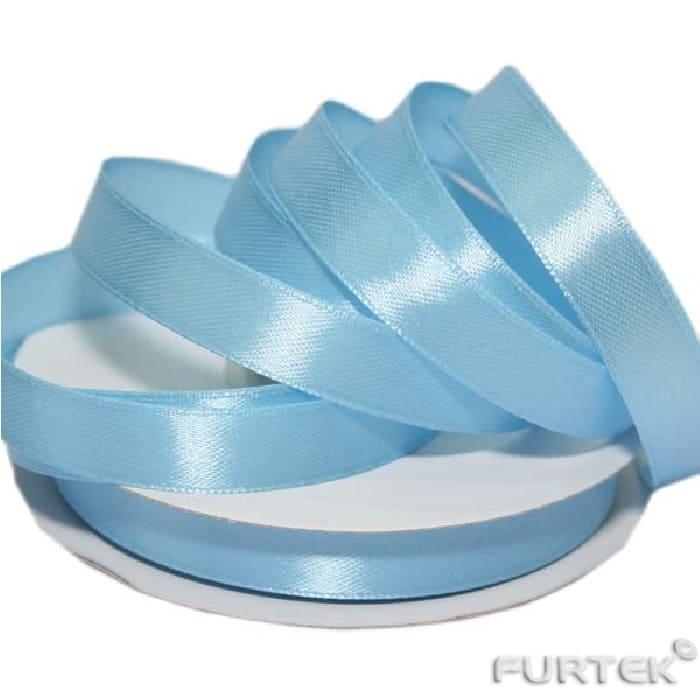 Атласная голубая лента шириной 10 мм