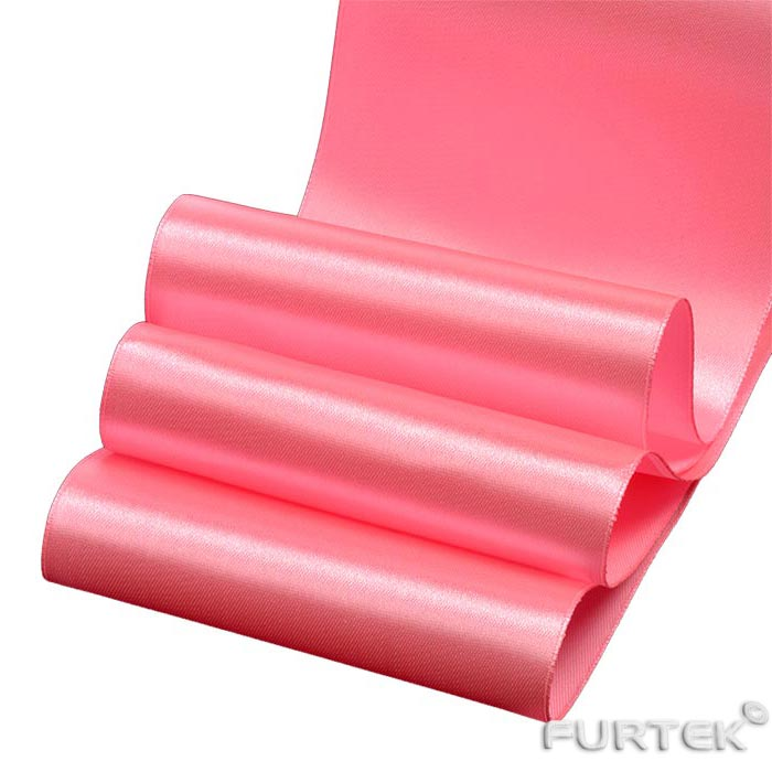 Атласная лента розовая премиум шириной 25 мм
