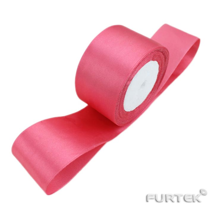 Лента атласная премиум розовая Ideal 25 мм шириной и длиной 100 м