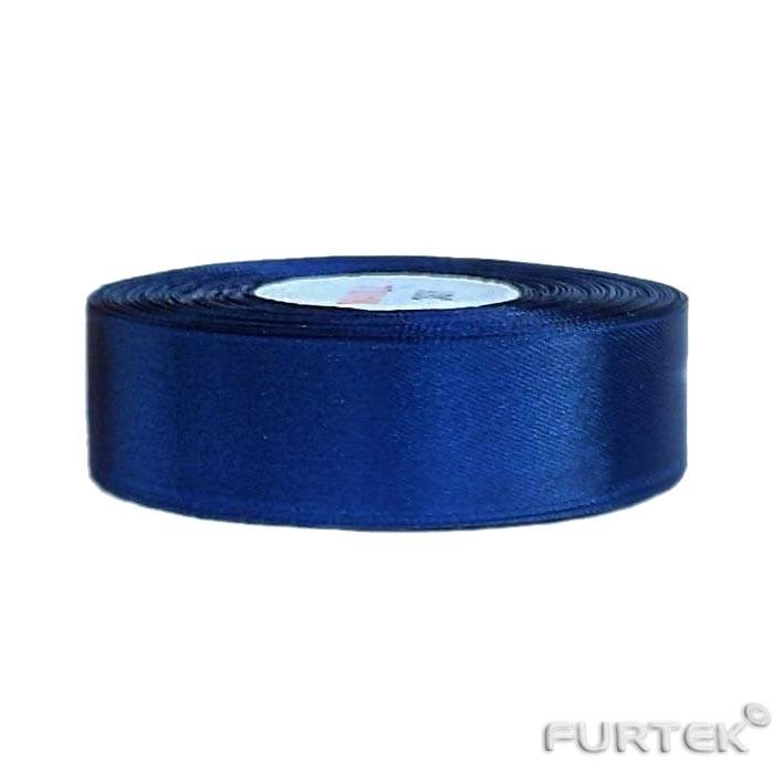 Лента атласная темно-синяя стометровая премиум класса 50 мм